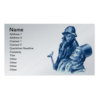 Bob Cratchit and Tiny Tim Christmas Carol Pack Of Standard Business Cards