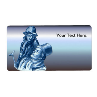 Bob Cratchit and Tiny Tim Christmas Carol Shipping Label