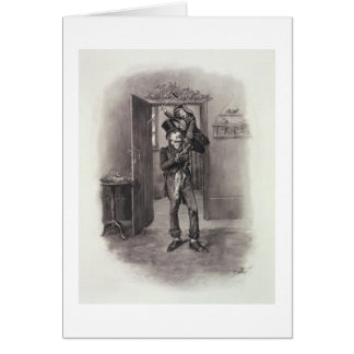 Bob Cratchit and Tiny Tim, from 'Charles Dickens: Greeting Card