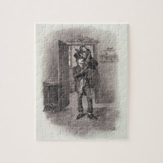 Bob Cratchit and Tiny Tim, from 'Charles Dickens: Jigsaw Puzzle