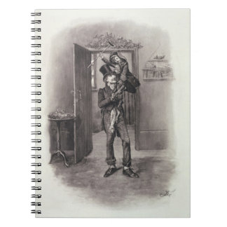 Bob Cratchit and Tiny Tim from Charles Dickens Notebook
