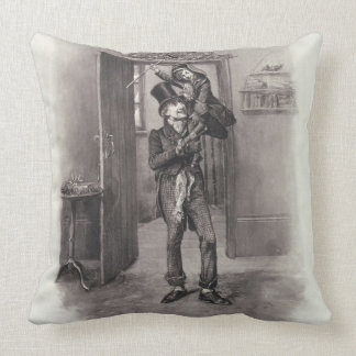 Bob Cratchit and Tiny Tim from Charles Dickens Pillows