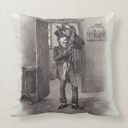 Bob Cratchit and Tiny Tim, from 'Charles Dickens: Pillows