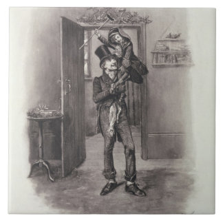 Bob Cratchit and Tiny Tim, from 'Charles Dickens: Tiles