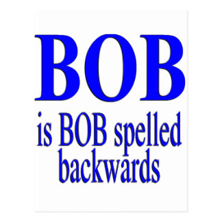 Bob is Bob backwards Postcard