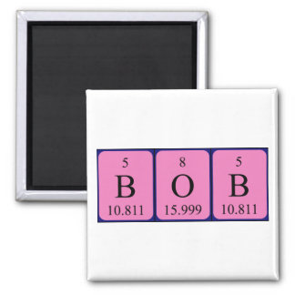 Bob periodic table name magnet