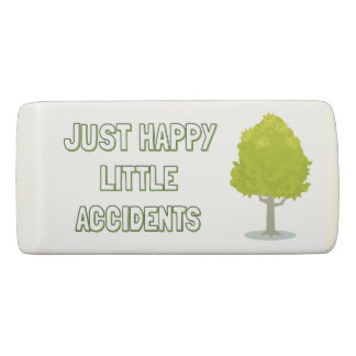 bob ross happy accidents eraser
