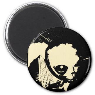 Bob the Alien 2 Inch Round Magnet