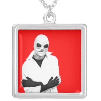 Bob the Alien Necklace Red