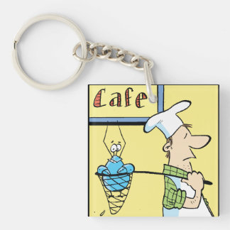 Bob The Crayfish Cafe Special Single-Sided Square Acrylic Keychain