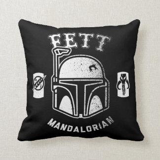Boba Fett Badge Throw Pillow