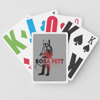 Boba Fett Line Art Bicycle Poker Deck