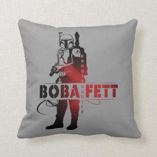 Boba Fett Line Art Throw Pillows