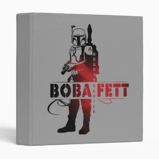 Boba Fett Line Art Vinyl Binder