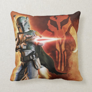 Boba Fett Shooting Throw Pillow