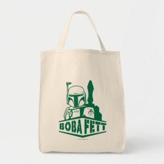 Boba Fett Stencil Grocery Tote Bag
