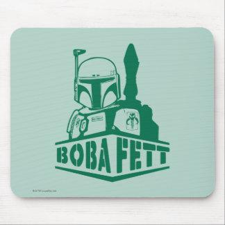 Boba Fett Stencil Mouse Pad