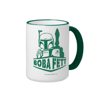 Boba Fett Stencil Ringer Coffee Mug