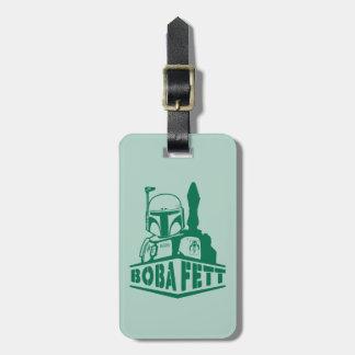Boba Fett Stencil Travel Bag Tags