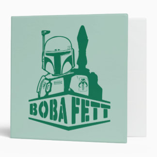 Boba Fett Stencil Vinyl Binder