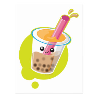 Boba Tea Postcard
