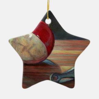 Bobber and Sinker Ceramic Ornament