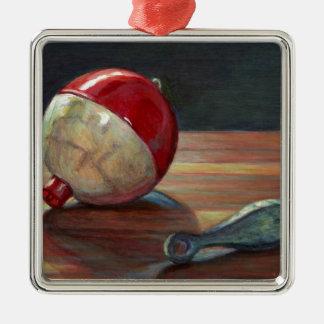 Bobber and Sinker Metal Ornament