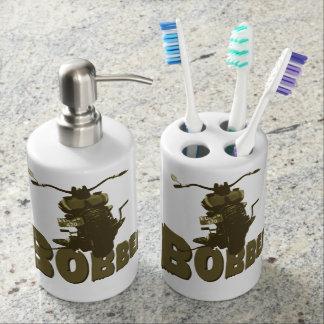 Bobber Bike Soap Dispenser And Toothbrush Holder