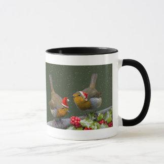 Bobbin' Robins Christmas Mug