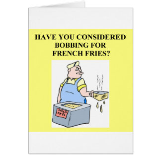 bobbing for french fries card