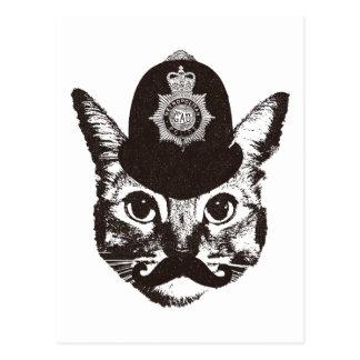 Bobby Cat Police Postcard