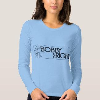 """""""Bobby était"""" long T-shirt droit de pièce en t de"""