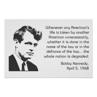 Bobby Kennedy Nonviolence Poster