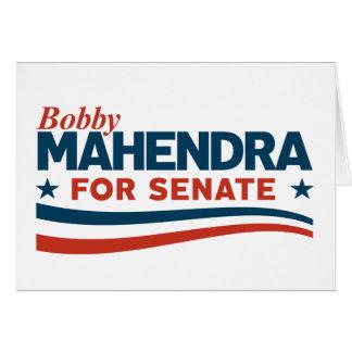 Bobby Mahendra for Senate Card