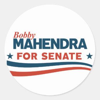 Bobby Mahendra for Senate Classic Round Sticker