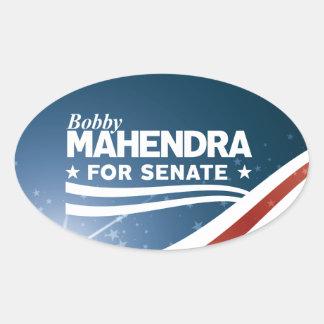 Bobby Mahendra for Senate Oval Sticker