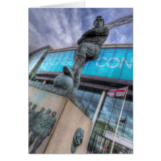Bobby Moore Statue Wembley Stadium Card