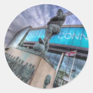 Bobby Moore Statue Wembley Stadium Classic Round Sticker