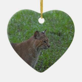 Bobcat Ceramic Ornament