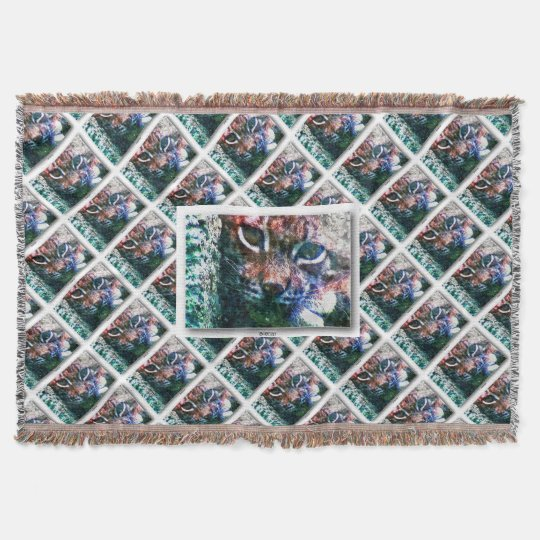 BOBCAT LYNX LYNX - Artwork Jean Louis Glineur Throw