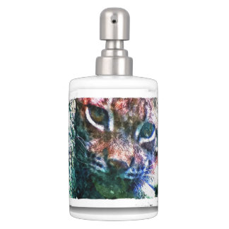 BOBCAT - LYNX - LYNX - digital Artwork Soap Dispenser And Toothbrush Holder