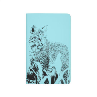 Bobcat Portrait Pocket Journal - Lined