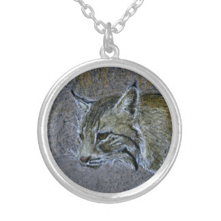 Bobcat Silver Plated Necklace