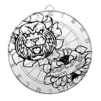 Bobcat Wildcat Esports Gamer Mascot Dartboard