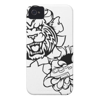 Bobcat Wildcat Esports Gamer Mascot iPhone 4 Case-Mate Cases