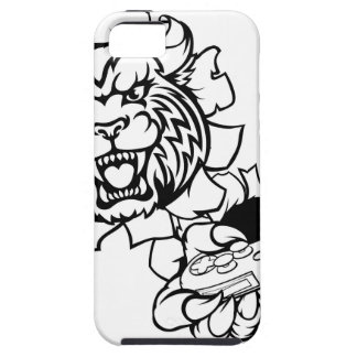 Bobcat Wildcat Esports Gamer Mascot iPhone 5 Cases