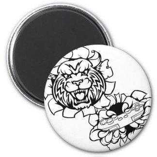 Bobcat Wildcat Esports Gamer Mascot Magnet