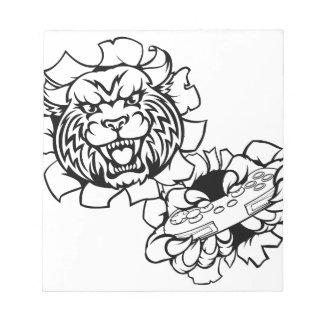 Bobcat Wildcat Esports Gamer Mascot Notepad