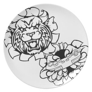 Bobcat Wildcat Esports Gamer Mascot Plate