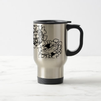 Bobcat Wildcat Esports Gamer Mascot Travel Mug
